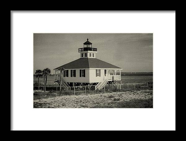Photograph Framed Print featuring the photograph Boca Grande Lighthouse by Lois Lepisto