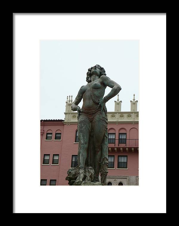 Statue Framed Print featuring the photograph Boca Resort Statue by Florene Welebny