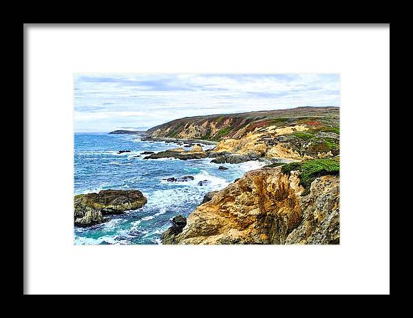 Bodega Bay Coastline Framed Print featuring the photograph Bodega Bay Coastline by Kirsten Giving