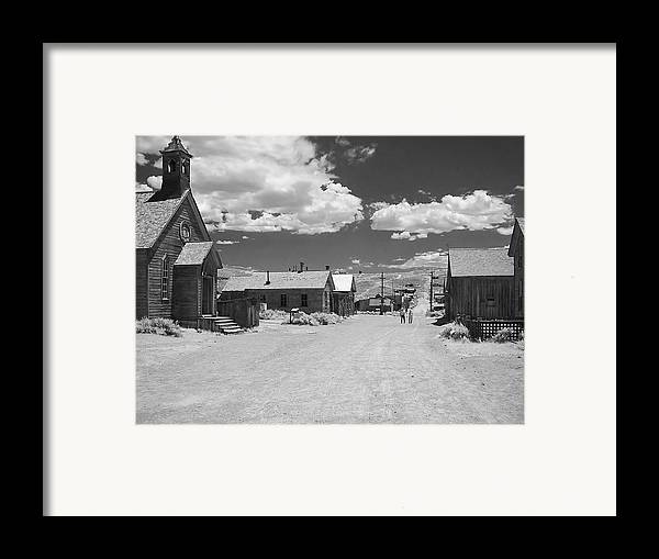 Ghost Town Framed Print featuring the photograph Bodie A Ghost Town Infrared by Christine Till