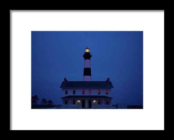 Lighthouse Framed Print featuring the photograph Bodie Island Lighthouse by Mark Wagoner