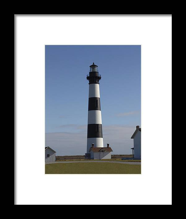 Lighthouse Framed Print featuring the photograph Bodie Lighthouse by Tina B Hamilton