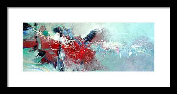 Abstract Framed Print featuring the painting Body Talk by Dale Witherow
