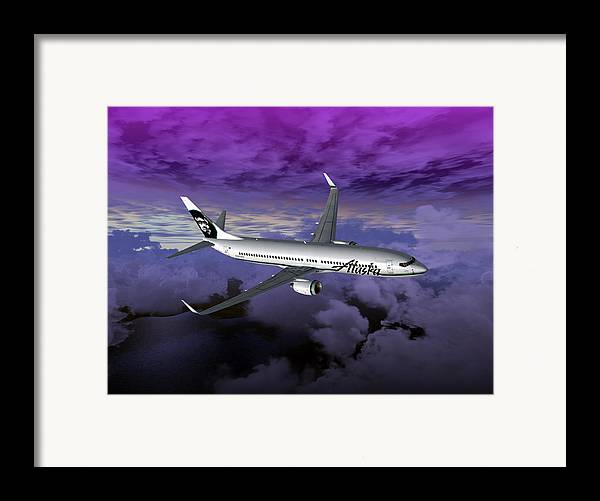 Aviation Framed Print featuring the digital art Boeing 737 Ng 001 by Mike Ray