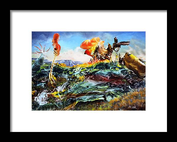 Landscape Framed Print featuring the painting Bogomil Landscape by Otto Rapp