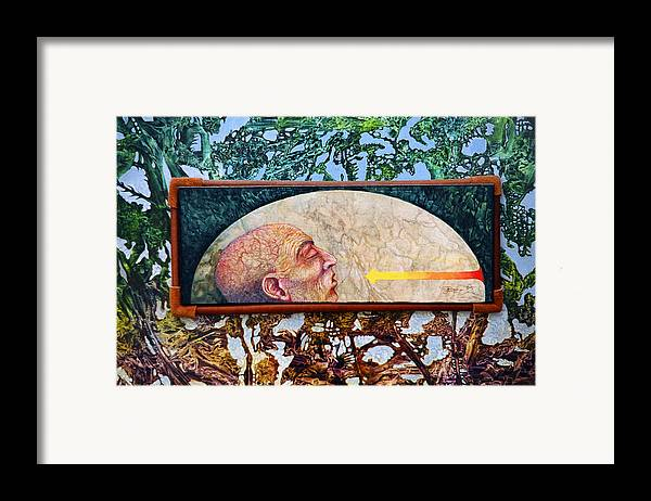 Surrealism Fantasy Fantastic Realism Decalcomania Otto Rapp The Mystic Framed Print featuring the painting Bogomil Rising by Otto Rapp