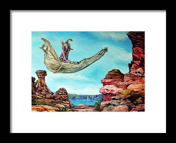 Painting Framed Print featuring the painting Bogomils Journey by Otto Rapp