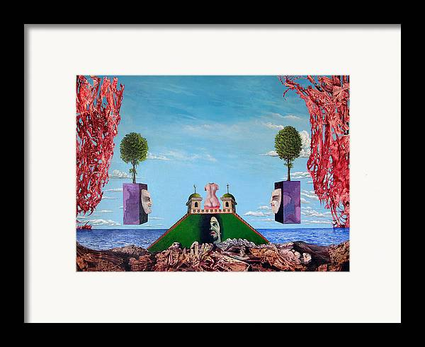 Painting Framed Print featuring the painting Bogomils Monastic Retreat by Otto Rapp
