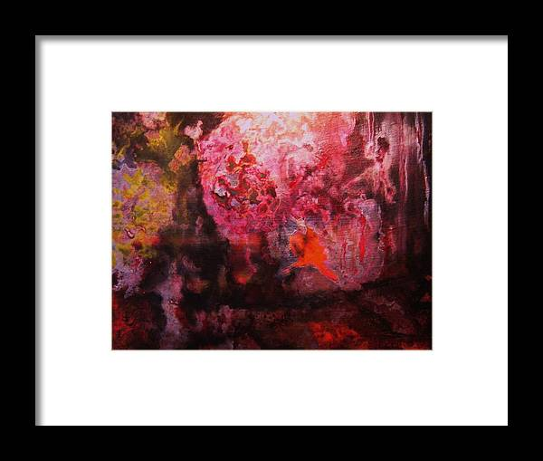 Boiling Lava Framed Print featuring the painting Boiling Lava by Meshal Hardie