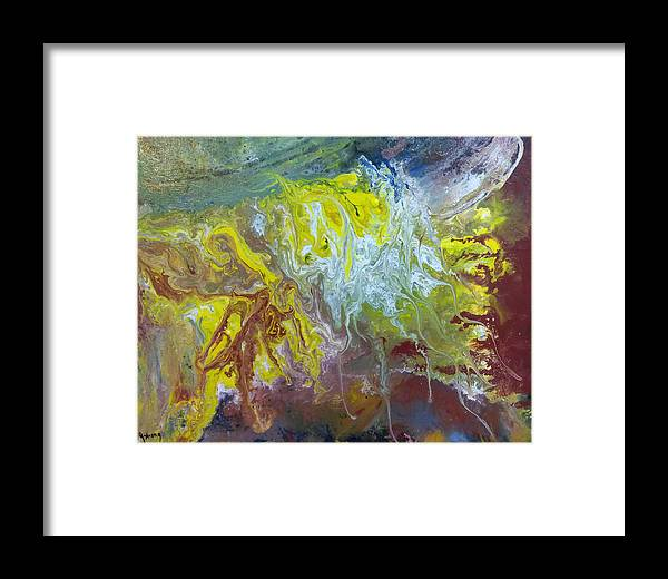 Fire Framed Print featuring the painting Boiling Over by Jounda Strong