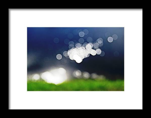 Bokeh Framed Print featuring the photograph Bokeh By The Lake by HazelPhoto