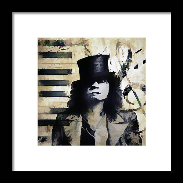 Abstract Framed Print featuring the digital art Bolan Notes by Ronald Bolokofsky