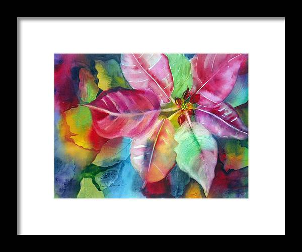 Flower Framed Print featuring the painting Bold Bloom by Maritza Bermudez
