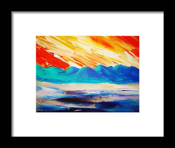 Bright Framed Print featuring the painting Bold Day by Melinda Etzold