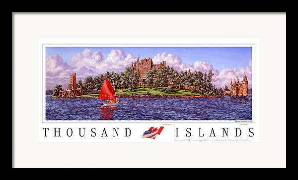Thousand Islands Framed Print featuring the print Boldt's Castle Poster by Richard De Wolfe