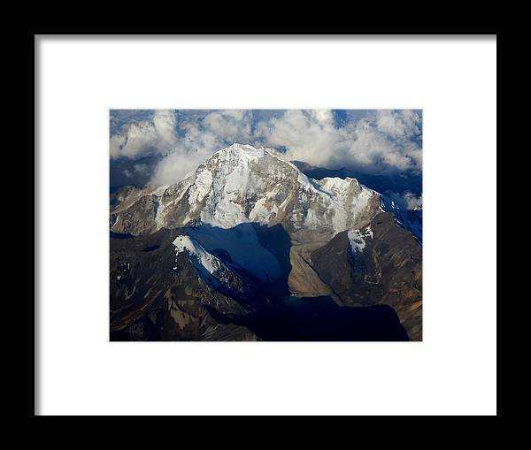 Mountains Framed Print featuring the photograph Bolivian Andes by Helen ONeal