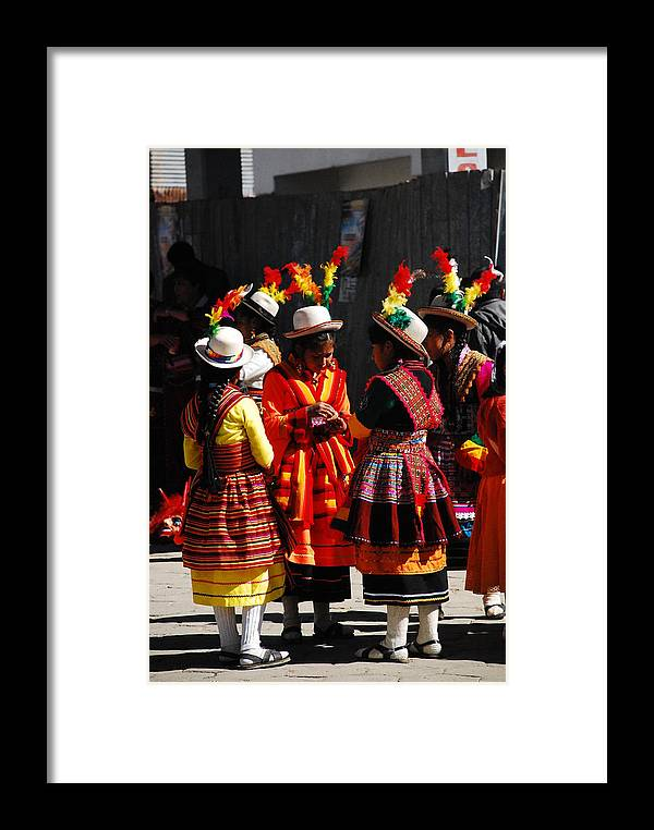 Bolivian Framed Print featuring the photograph Bolivian Typical Costume by Juan Gnecco