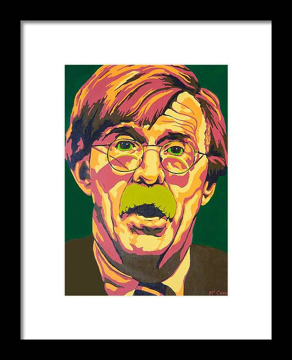 Politics Framed Print featuring the painting Bolton by Dennis McCann