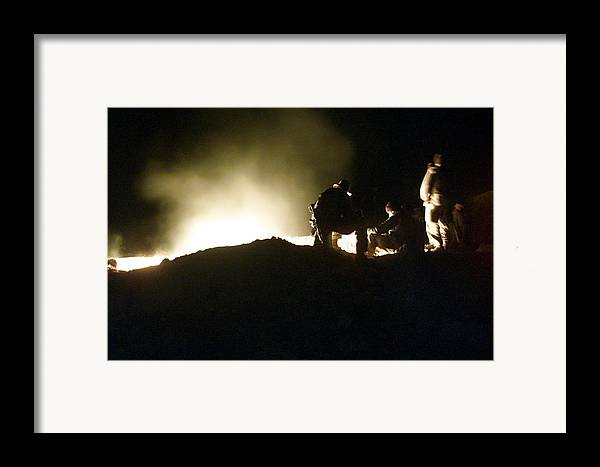 War Framed Print featuring the photograph Bomb Crater Kandahar by Thomas Michael Corcoran