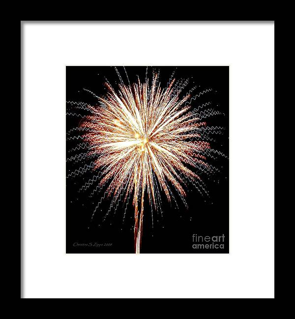 Fireworks Framed Print featuring the photograph Bombs Bursting In Air by Christine S Zipps