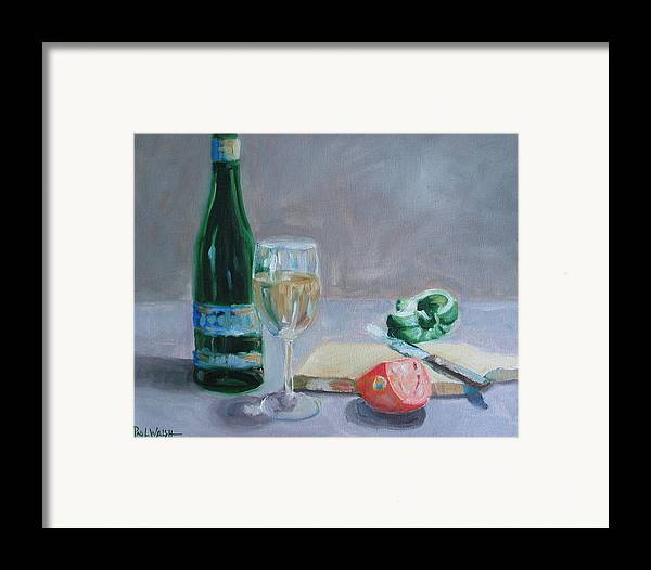 Wine Framed Print featuring the painting Bon Appetite by Paul Walsh