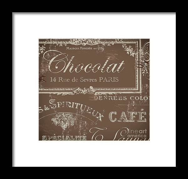 Chocolat Framed Print featuring the painting Bon Mots by Mindy Sommers