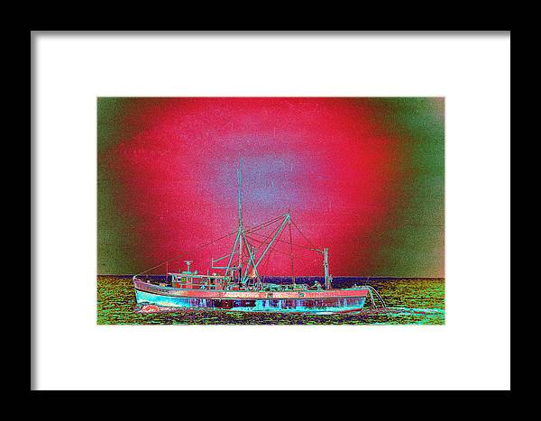 Fishing Boat Framed Print featuring the photograph Bonaker by Richard Henne