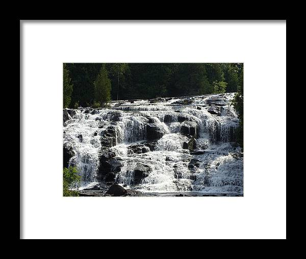 Falls Framed Print featuring the photograph Bond Falls by Jean Gugliuzza