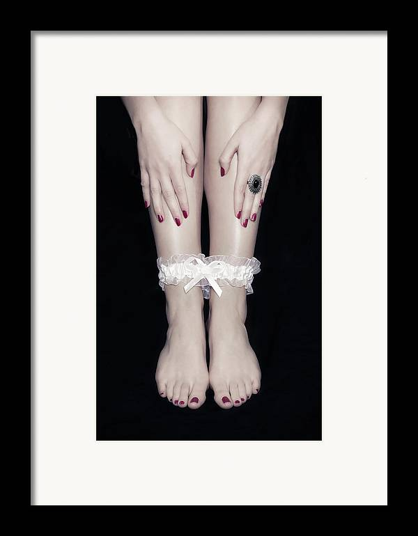 Female Framed Print featuring the photograph Bonded Legs by Joana Kruse