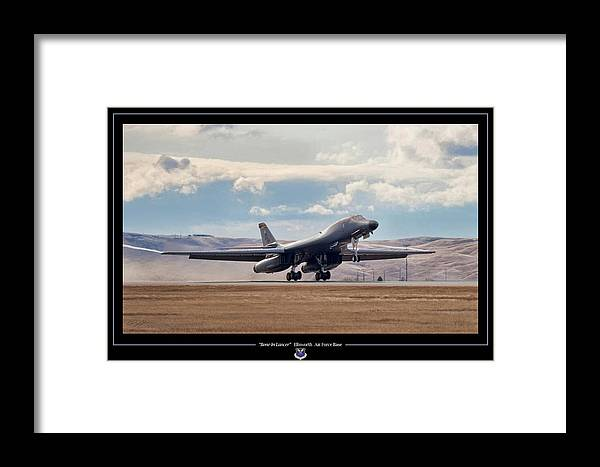 Aviation Framed Print featuring the digital art Bone-in Lancer by Peter Chilelli
