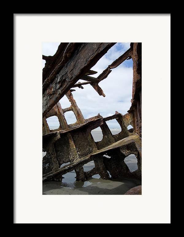 Shipwreck Framed Print featuring the photograph Bone Spurs by Jennifer Owen
