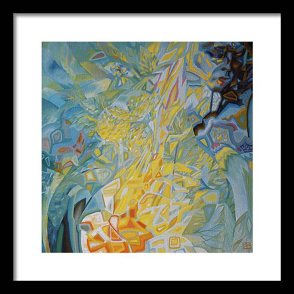 Space Framed Print featuring the painting Bonfire by Oleg Lipchenko