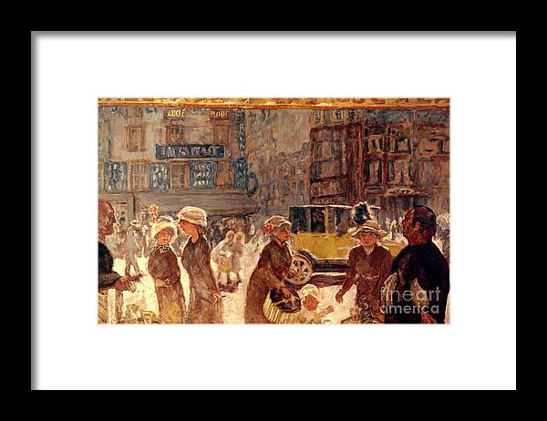 1912 Framed Print featuring the photograph Bonnard: Place Clichy by Granger