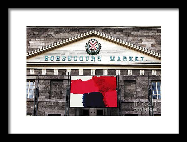Montreal Framed Print featuring the photograph Bonsecours Market by John Rizzuto