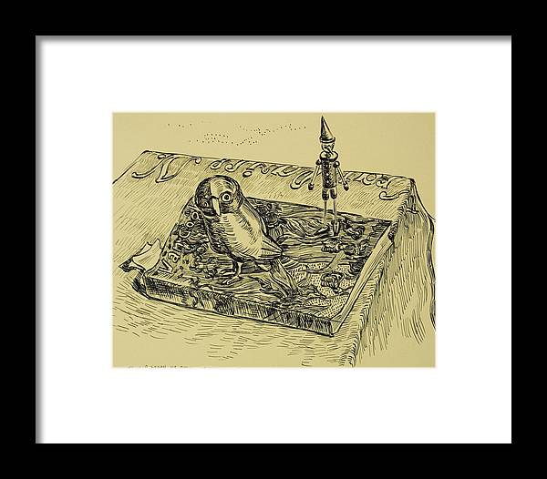 Van Gogh Framed Print featuring the drawing Book And Toys by Vitali Komarov