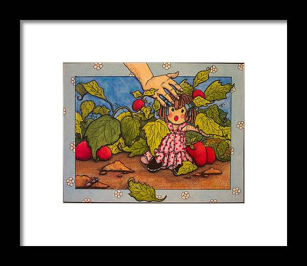 Children Framed Print featuring the painting Book Illustration by Victoria Heryet