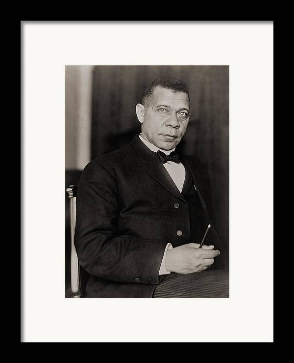 History Framed Print featuring the photograph Booker T. Washington 1856-1915, Became by Everett