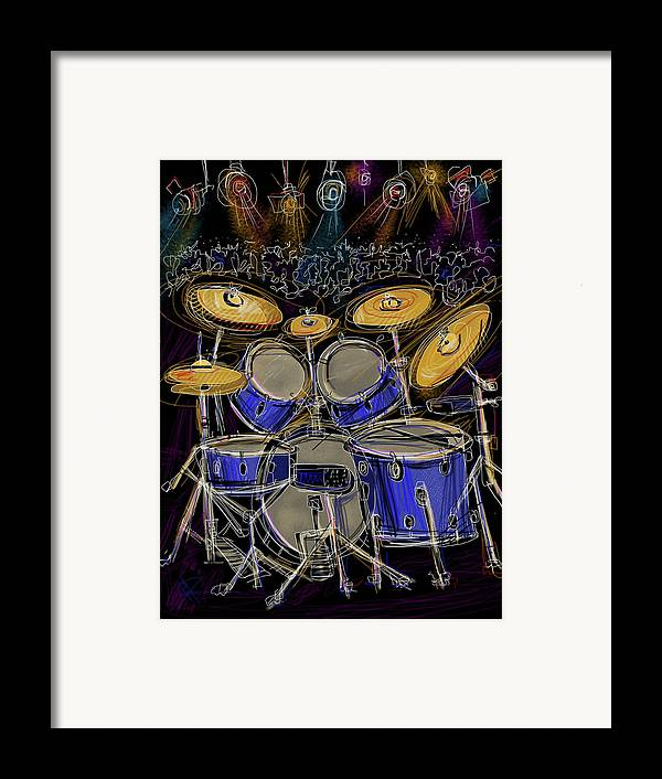 Drums Framed Print featuring the digital art Boom Crash by Russell Pierce