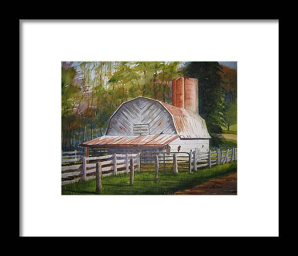 Boone Framed Print featuring the painting Boone Barn by Shirley Braithwaite Hunt