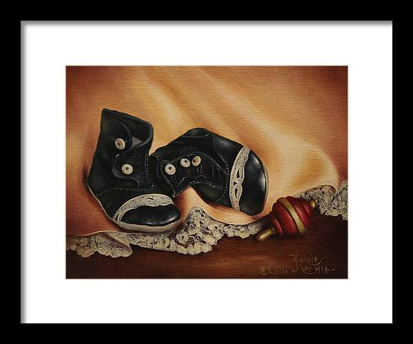 Still Life Framed Print featuring the painting Boots by Michelle Kerr