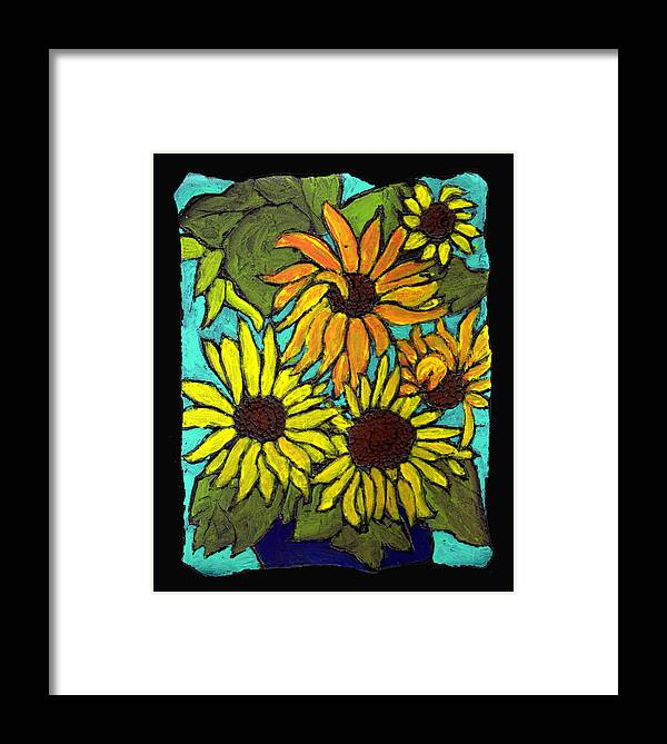 Flowers Framed Print featuring the painting Boquet Of Sunshine by Wayne Potrafka