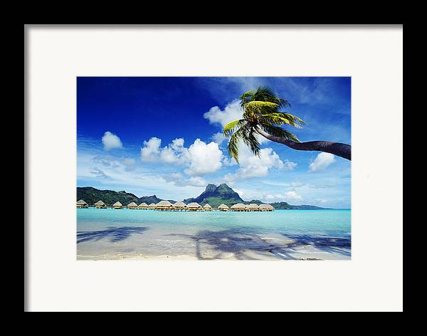 Afternoon Framed Print featuring the photograph Bora Bora, Lagoon Resort by Himani - Printscapes
