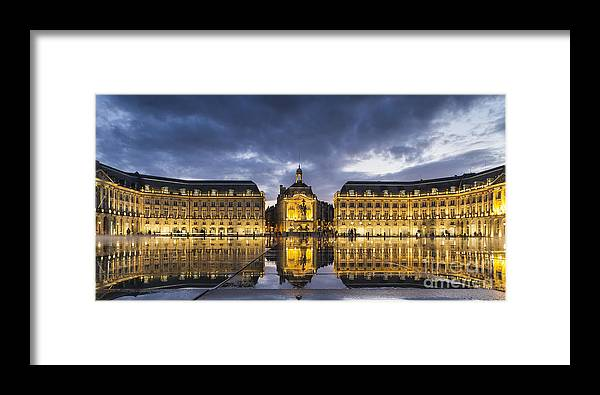 Bordeaux Framed Print featuring the photograph Bordeaux Place De La Bourse by Pier Giorgio Mariani