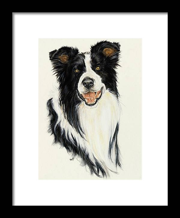 Collie Framed Print featuring the painting Border Collie by Barbara Keith