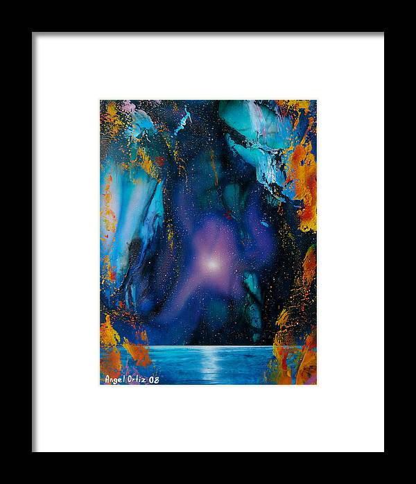 Nebula Caribe Framed Print featuring the painting Borealis by Angel Ortiz