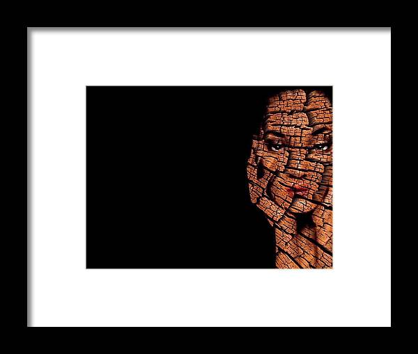 Pieces Framed Print featuring the digital art Bored Stiff by ISAW Gallery
