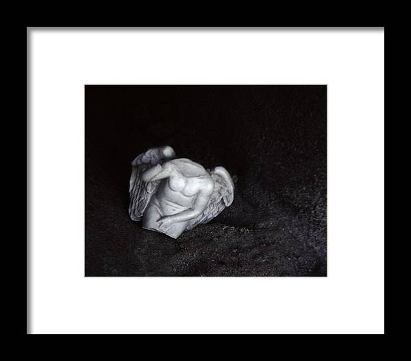 Angel Framed Print featuring the photograph Borken Angel by Ann Tracy