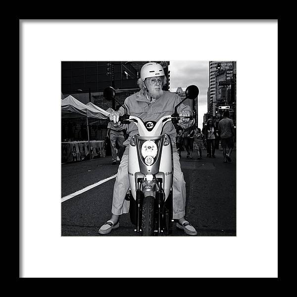 Blackandwhite Framed Print featuring the photograph Born To Be (kinda Sorta) Wild by Brian Carson