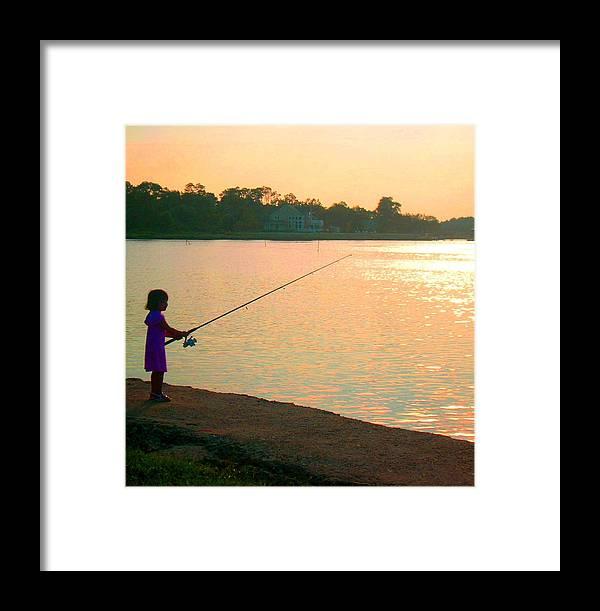 Fishing Framed Print featuring the photograph Born To Fish by Caroline Urbania Naeem
