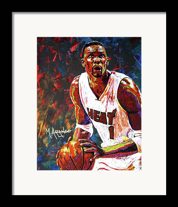 Chris Framed Print featuring the painting Bosh by Maria Arango